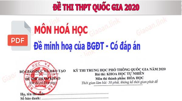 de th thpt quoc qia 2020 mon hoa hoc co dap an