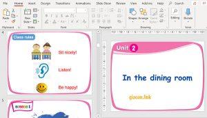 bai giang powerpoint english 1 uinit 2