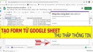 tao form thu thập thông tin bang google sheet