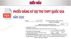 Phiếu đăng ký thi thpt quoc gia 2020