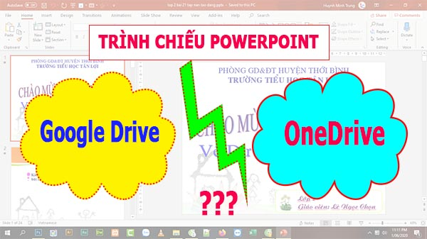 Trinh chieu powerpoint online tren onedrive hay google drive