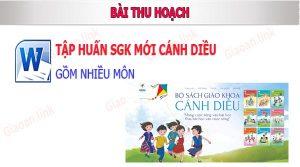 bai thu hoach tap huan sgk canh dieu