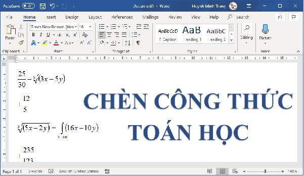 chen cong thuc toan hoc theo kieu doc tren word