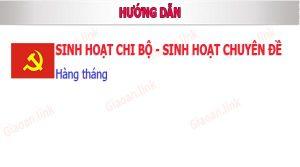 huong dan sinh hoat chi bo va huong dan sinh hoat chuyên đề