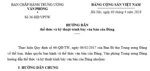 huong dan trinh bay the thuc van ban dang