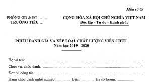 phieu danh gia xep laoi vien chuc 2020