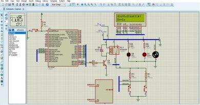 Mikroc Pic 16f887 điều khiển bơm nước tự động Lcd display