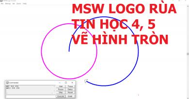 MSW Logo Rùa – Vẽ hình tròn bằng lệnh ARC và ARC2